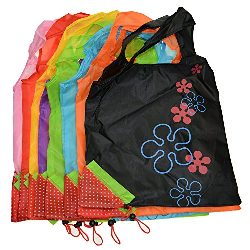 Reusable Shopping Bags,Foldable Tote Eco Grab Bag with Handles,Grocery Shopping Bags (8 PCS Color Mixture)