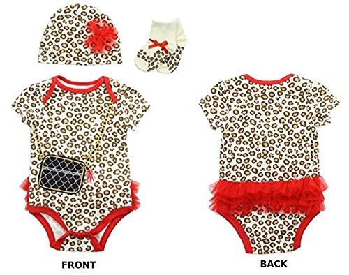 "Buster Brown Baby ""Little Diva"" Leopard Print Bodysuit Gift Set (6-9 Months)"