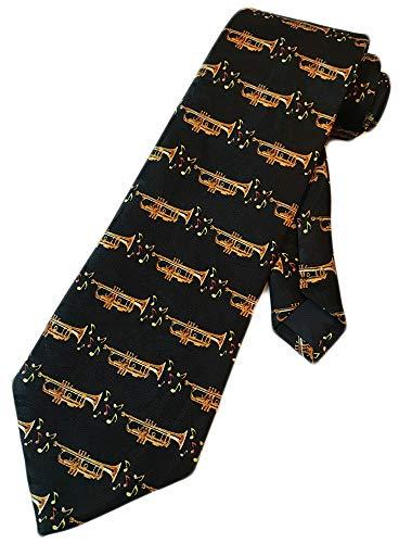 Steven Harris Mens Trumpet Brass Instrument Necktie - Black - One Size Neck Tie