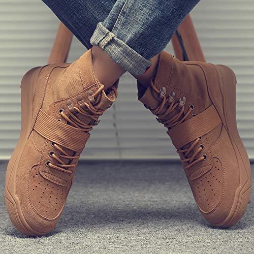 ZyuQ Herrenstiefel Herrenschuhe Winter Martin Schuhe Herren High-Cut Kurze Stiefel Schuhe Herrenschuhe Mode Retro Werkzeug Militärstiefel