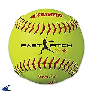 "CHAMPRO Sports 12' Practice Softball Optic Yellow, 12"""