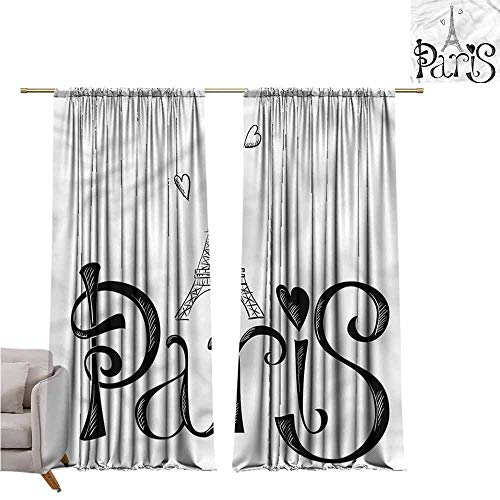 zojihouse Paris Kids Room Blackout Thermal Insulated Curtains, 55
