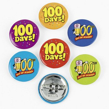 100th Day School Mini Buttons