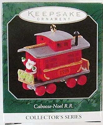 """Hallmark /""""Caboose Noel R.R./"""" Train Miniature Ornament 1998"""