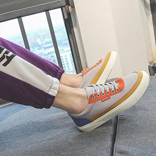Uomo Primavera SOMESUN Moda da da Scarpe Scarpe Casual Tela Basse Stringate Sportive Uomo Grigio Patchwork Scarpe Casual xI4qvn4fw