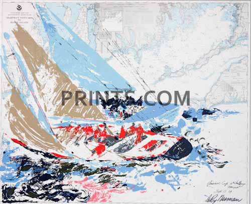 LeRoy Neiman - America's Cup Open Edition Serigraph on Paper