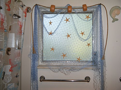10 X 8 Fishing Net, Fish Netting, Nautical Decor,valance, Drapes, Window Treatement (Fish Valance)