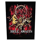 XLG Slayer Hell Awaits Metal Music Band Woven Back Jacket Applique Patch