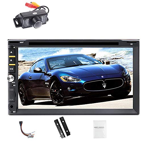 7 Inch Touch Screen Car Stereo DVD Player Receiver Double Din FM Radio Multimedia Player in Dash Bluetooth Car Audio 1080P Video + Backup Camera