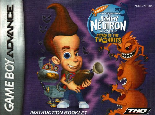 (Jimmy Neutron - Attack of the Twonkies GBA Instruction Booklet (Game Boy Advance Manual only) (Nintendo Game Boy Advance)