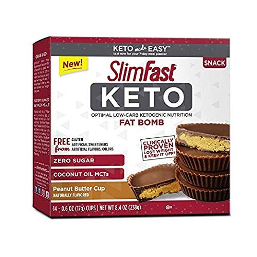 SlimFast Keto Fat Bomb Snacks (Pack of -