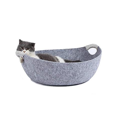HEI SHOP Cama para Gatos, Nido de Fieltro para Mascotas pequeñas, Cueva para Dormir