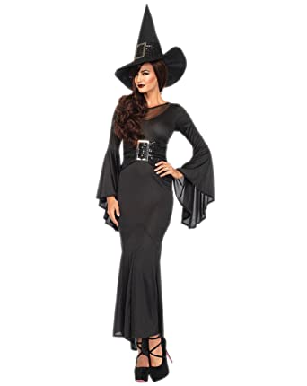 Sexy Wicked Witch Costume - Halloween Adult Black Witch Cosplay Costume for Women  sc 1 st  Amazon.com & Amazon.com: Sexy Wicked Witch Costume - Halloween Adult Black Witch ...