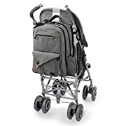 32b7e4f6d0d8 HapTim Multi-function Large Baby Diaper Bag Backpack W Stroller Straps-Insulated  Pockets-Changing Pad