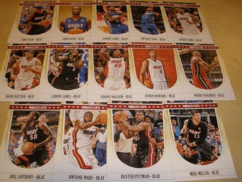 2011/12 Panini Hoops Miami Heat Team Set (14 Cards) 3 Lebron James, 2 Dwyane Wade, 2 Chris Bosh, Mike Miller, Mario Chalmers