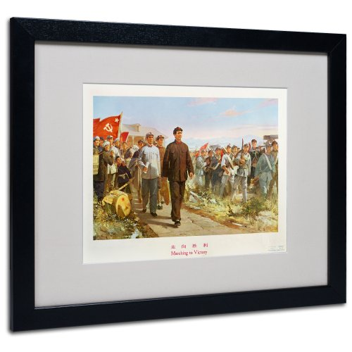 Marching to Victory Canvas Art, 16 by 20-Inch, Black Frame