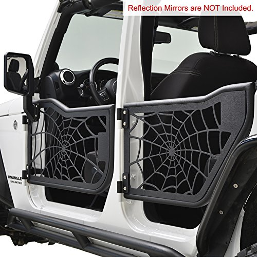 E autogrilles tubular spider web doors for 07 17 jeep for 07 4 door jeep wrangler for sale