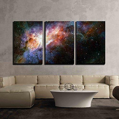 Beautiful Multicolored Galaxy x3 Panels