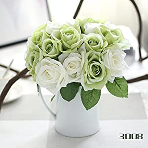 Fake Flowers Vintage Artificial Peony Silk Flowers Bouquet for Wedding Home Decoration 90