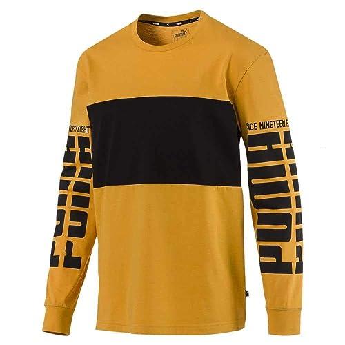 4c8d91238cd Puma Rebel Up LS Tee Sunflower Yellow: Amazon.in: Shoes & Handbags