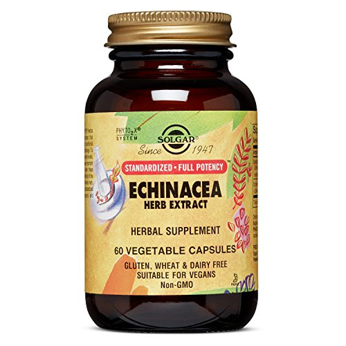 Solgar Standardized Full Potency Echinacea Herb Extract Vegetable Capsules, 60 Count