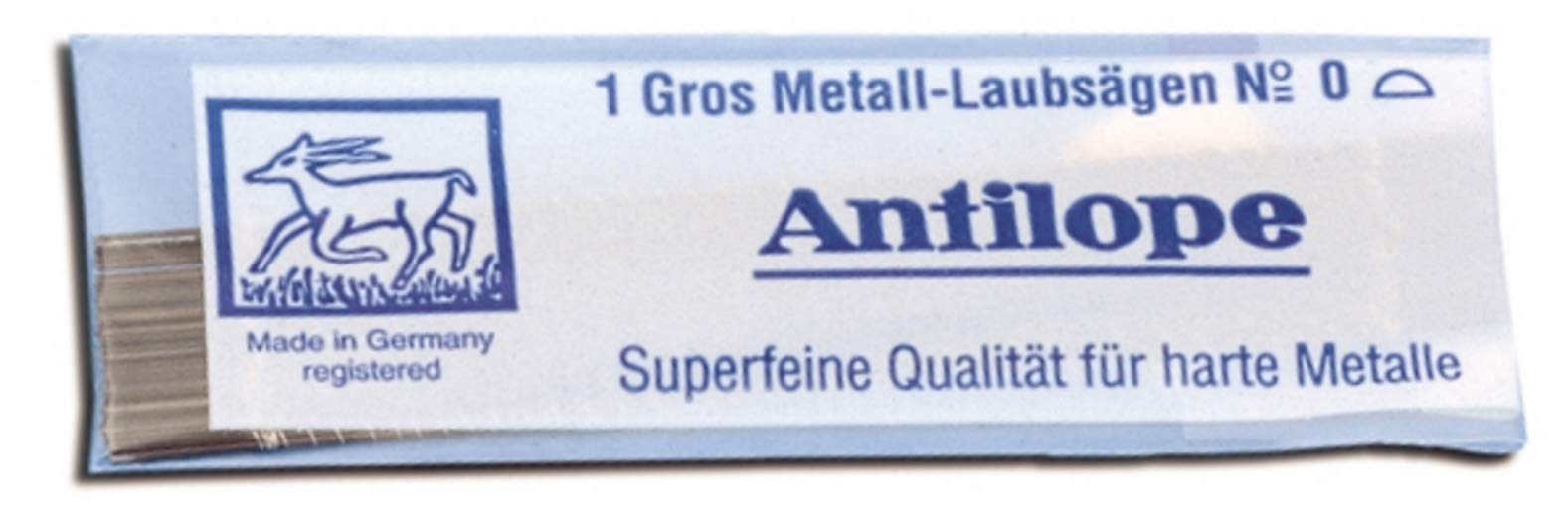 Metalworking Jewelers Sawblades Pack of 144 Antilope Blue #4/0 by Grobet USA