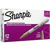 Sharpie Metallic Permanent Markers, Gold, Dozen