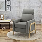 Great Deal Furniture | Chris | Mid Century Modern Fabric Recliner | in Grey
