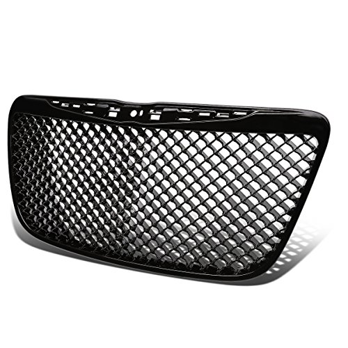 For Chrysler 300/300C ABS Plastic Mesh Front Bumper Grille (Black) - 2nd Gen 11 12 13 14