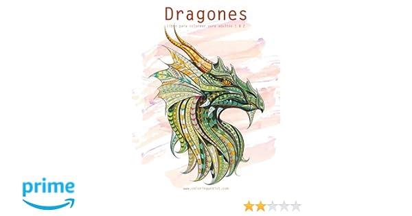Dragones libro para colorear para adultos 1 & 2: Amazon.es: Nick ...