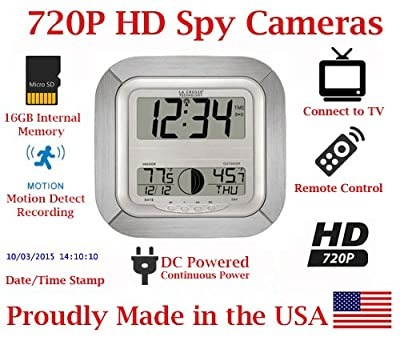 SecureGuard Atomic Wall Clock Spy Camera from AES Spy Cameras