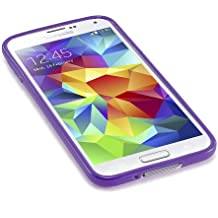 Caseiopeia SimplySafe Ultra Slim Case Premium Flexible TPU Cover for Galaxy S5 - Retail Packaging - Purple