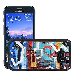 Print Motif Coque de protection Case Cover // V00002244 Graffiti en la puerta de edad // Samsung Galaxy S6 Active SM-G890 (Not Fit S6)