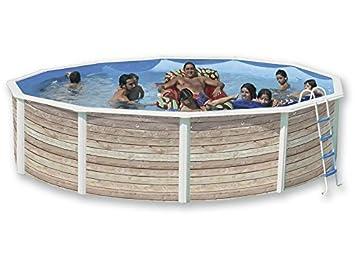 TOI - Piscina PINUS CIRCULAR 550x120 cm Filtro 3,6 m³/h.: Amazon.es: Juguetes y juegos