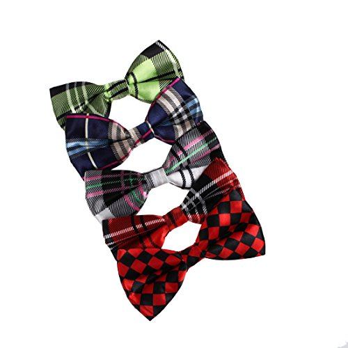 DBF0184 Excellent Bow Ties For Business Pre-tied Bow Ties - 5pc Luxury For Party By Dan Smith by Dan Smith