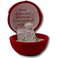 Glass bear in gift box for a special mum through and through