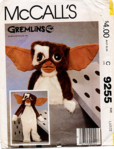 McCalls 9255 Child Gremlin Costume Sewing Pattern Size Child Large 12-14 Vintage -