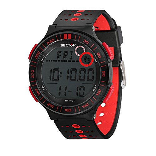 SECTOR Men's Ex-23 Quartz Sport Watch with Plastic Strap, Black, 18 (Model: R3251512002