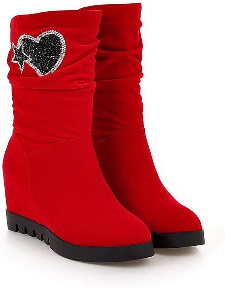 AdeeSu Womens Heighten Inside Assorted Colors Imitated Suede Boots SXC03119