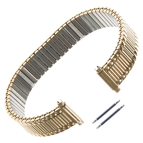 Gilden Ladies Expansion 12-16mm Extra-Long Gold-Plated Stainless Steel Watch Band 140-YL