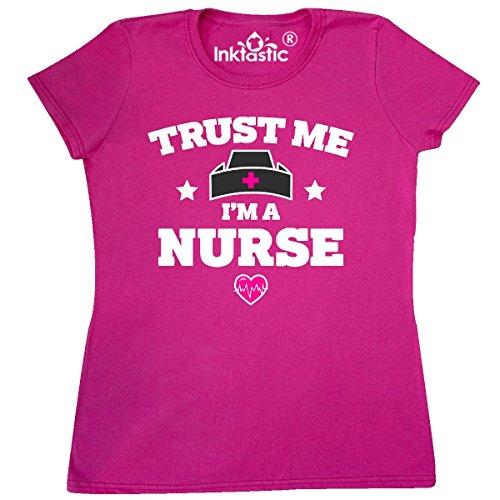 Price comparison product image inktastic Trust me Im a Nurse Women's T-Shirt Large Cyber Pink 3020a