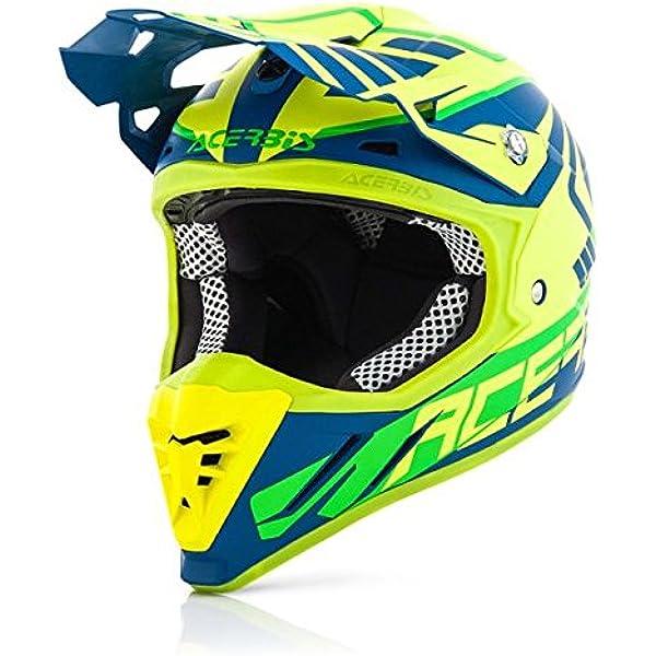Amazon.es: Casco moto Cross/Enduro Acerbis Profile 3.0 Skinviper XXL GIALLO FLUO-BLU
