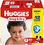 Health & Personal Care : Huggies Snug and Dry Diapers - Size 3 - 80 ct