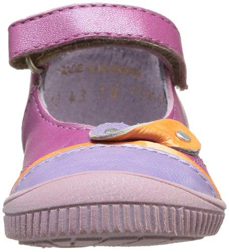 Lilas Chaussures Nolita Kickers basses Violet fille à Orange scratch bébé 85ffwnAdS