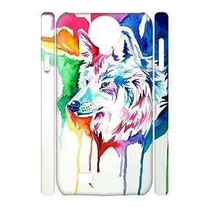 Custom New Case for SamSung Galaxy S4 I9500 3D, Rainbow Wolf Phone Case - HL-R671891