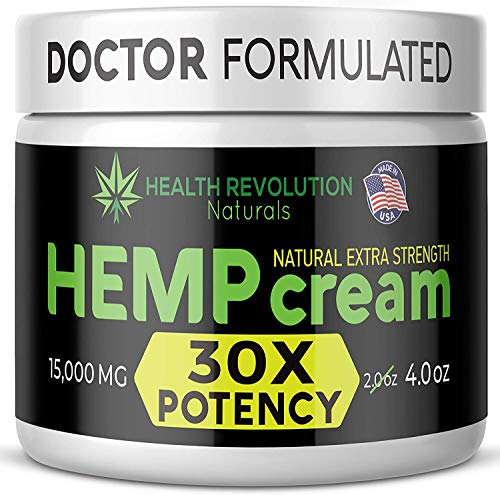 Extra Strength Hemp Cream for Pain Relief - Only 3rd Party Tested Product to Verify Strength/Results. All Natural for Nerve-Sciatic, Muscle, Back Pain & Inflammation, with Arnica, MSM, Emu, Turmeric