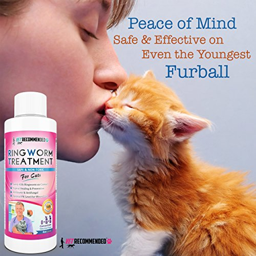 Vet-Recommended-Ringworm-Treatment-For-Cats-Concentrate-Makes-Two-16oz-Bottles-of-Antifungal-Spray-Safely-Kills-Viruses-Disease-Causing-Bacteria-Spores-and-Fungi-Made-in-USA-4oz120ml