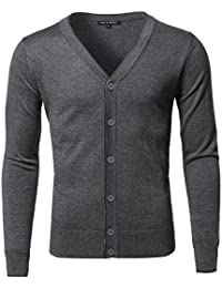 Men's Solid Casual Classic Soft Stretchable Cardigan Various Colors