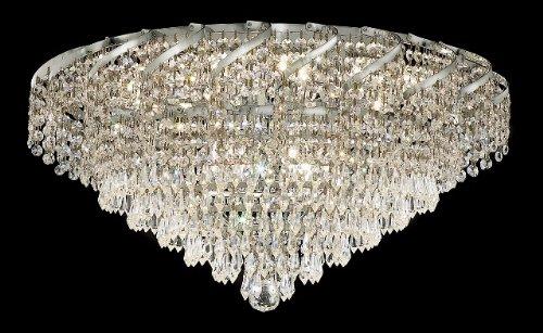 Belenus 18 Light (Belenus Clear Crystal Flush w 18 Lights in Chrome (Spectra Swarovski))