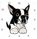 3dRose Cute Boston Terrier Puppy Dog Original – Wall Clock, 10 by 10-Inch (dpp_216347_1) For Sale